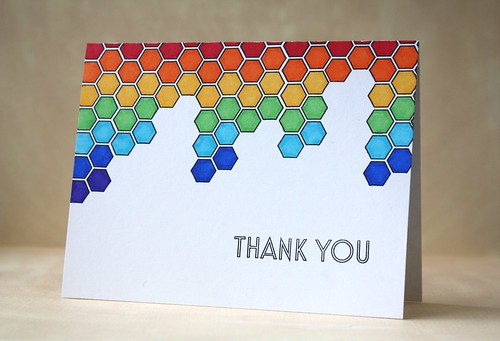 Cards Challenge~Hexagons by L. Bassen