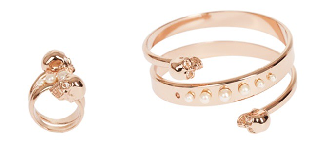 8 - rose gold - pearl skull