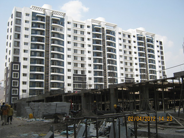 Sparklet - Megapolis Smart Homes 1, Hinjewadi Phase 3, Pune 411057 - under construction podium & A 13,14,15 Buildings