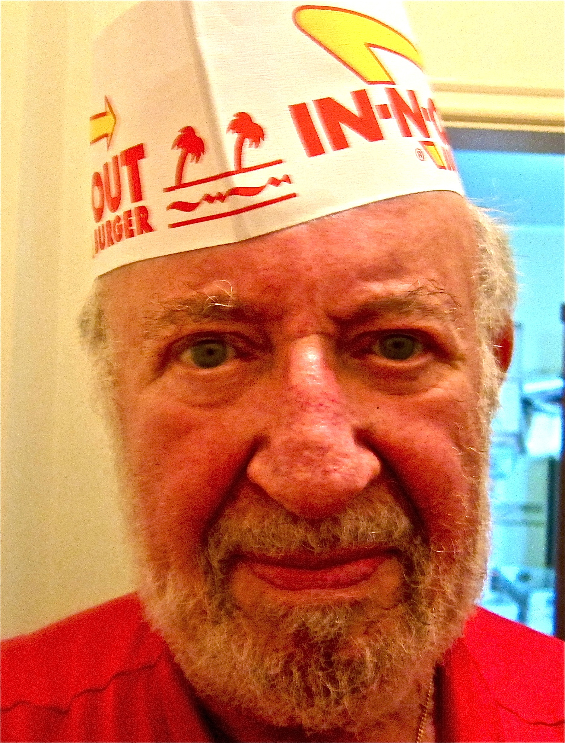 Jay proudly wears his In-N-Out hat