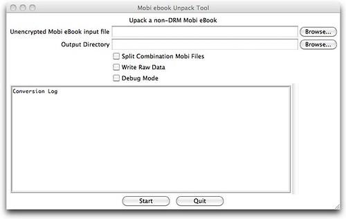 Mobi ebook Unpack Tool
