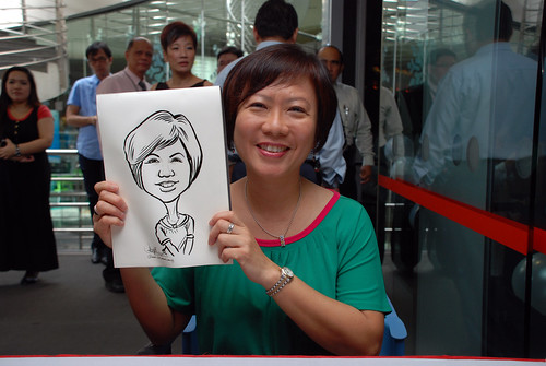 Caricature live sketching for Singapore Suntec City Annual Party - 2