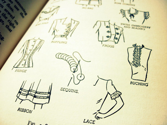 Retro 1950s sewing book