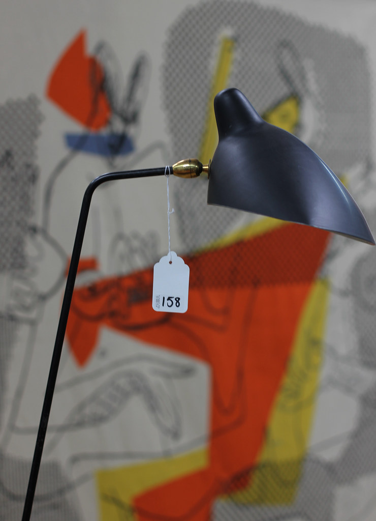 You have been here sometime modern art design auction - Lampadaire serge mouille ...