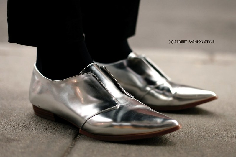 metallic oxfords, new york streetstyle fashion blog, STREETFASHIONSTYLE, street fashion style,