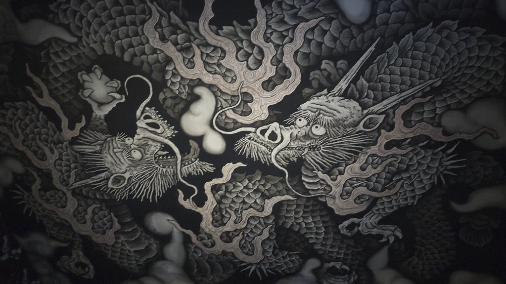 Two dragons by Koizumi Junsaku
