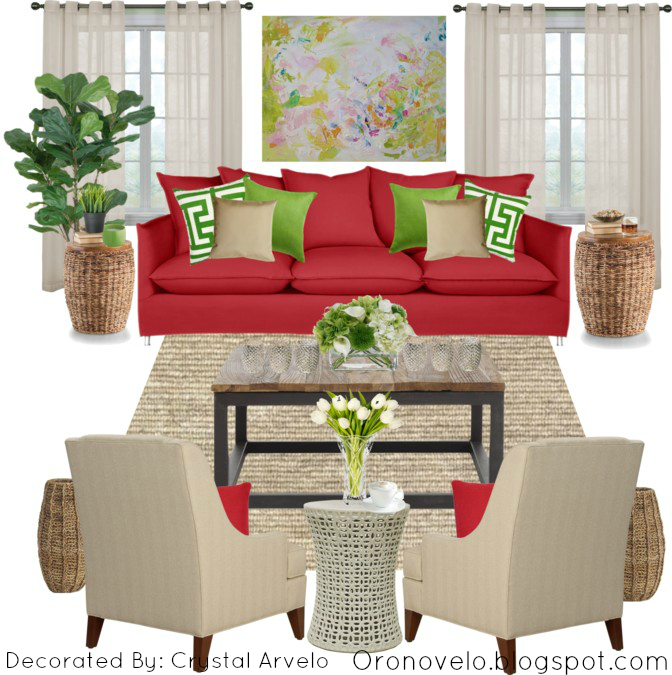 Red Ornaments For Living Room: Oronovelo: Red Couch Living Room Ideas