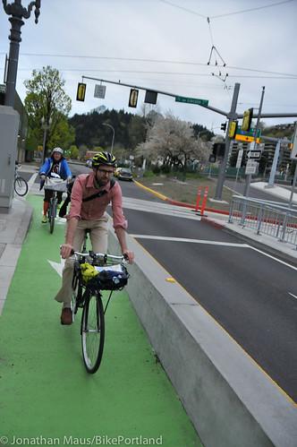 Bike Advisory Committee rides downtown-28