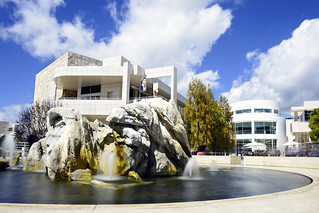 Fountain at Getty Center