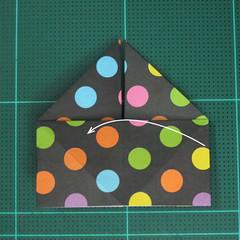 การพับกระดาษเป็นถุงใส่ขนมแบบญี่ปุ่น (Origami Sambo) 008
