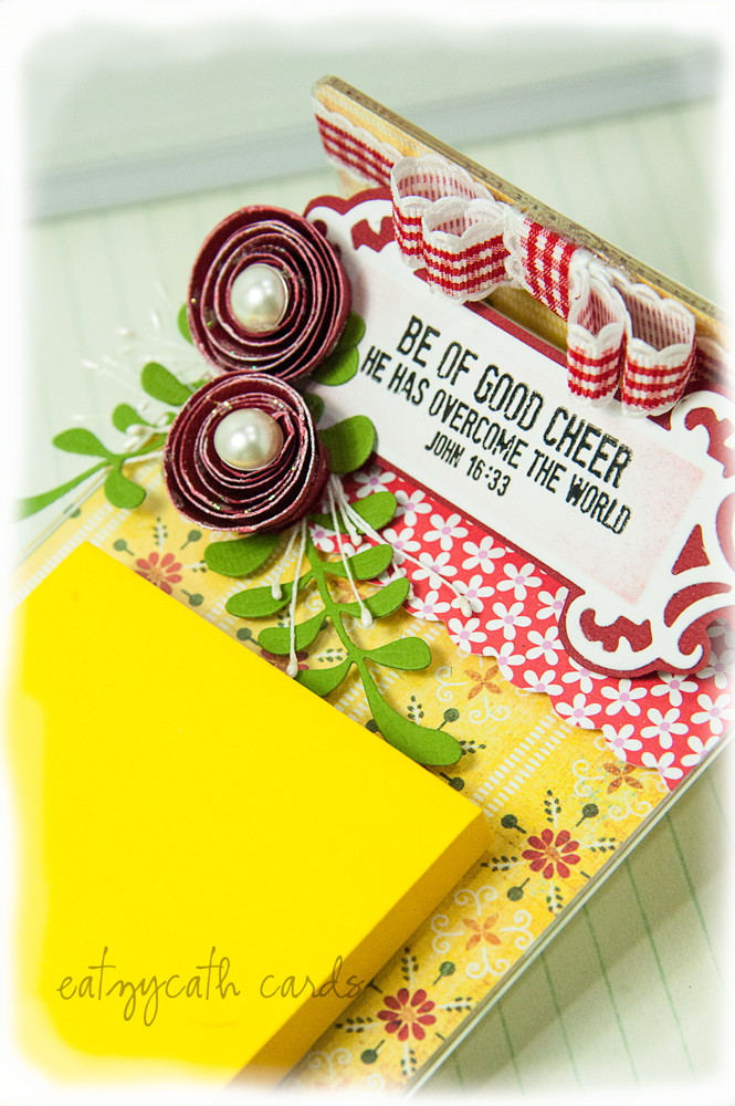 Post-It-Noteholder: Be of Good Cheer