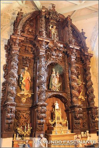 Retablo Barroco en Iglesia de San Juan Bautista, Oña.