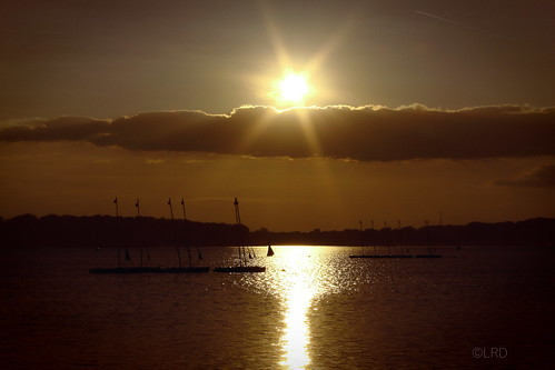 sunset red lake france water boat eau lac bateau étang ucpa seineetmarne torcy vaires
