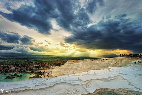 旅行 日落 风光 尼康 rog 摄影 土耳其 棉花堡 广角