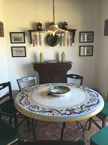 handpainted dining table, Al fogher