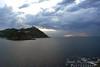 San Sebastián - Donostia. Anochece frente a la Isla de Santa Clara y Monte Igueldo.