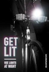 Get Lit: Use lights at night (front side)