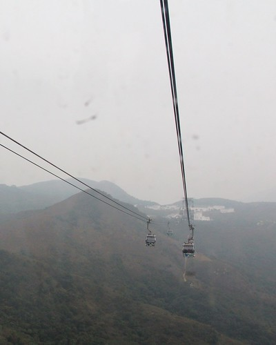 on the cable car to ngong ping