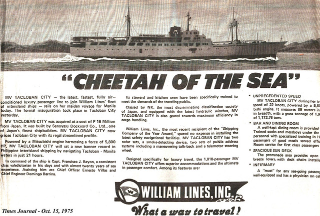 1975 1015 Cheetah of the Sea_MV Tacloban City