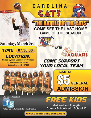 March 3rd BATTLE OF THE CATS March 3rd