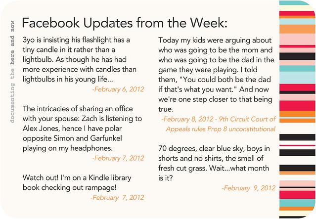 Week 6 status updates