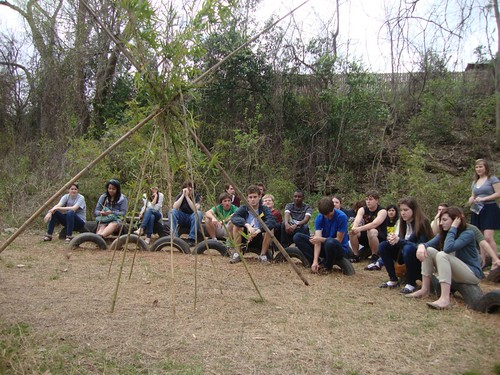 Coates Bluff Nature Trail: Caddo Magnet fine arts students by trudeau