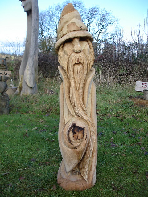 Oak wizard chainsaw carving flickr photo sharing