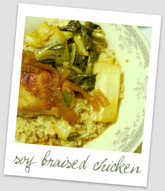 slow cooker soy braised chicken