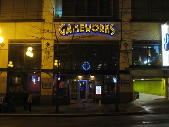 Gameworks, salle de jeu