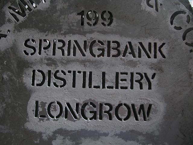 Springbank distillery - 1990s Longrow Stencil