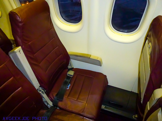 Seat 16A of the Alaska Airlines Q400