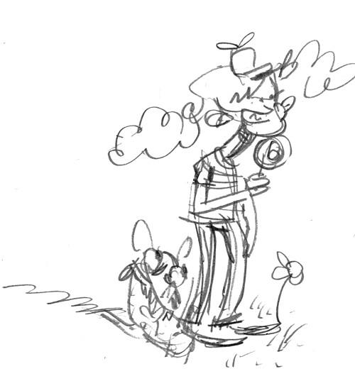 Lollipop Boy doodle