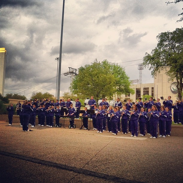Good days end with marching bands.