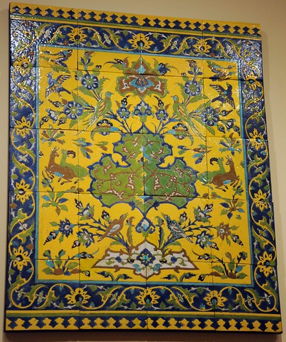 Ornate and delicate tile pattern, Middle Eastern design, Praise be to Allah, and to His Prophet, Mohammad, Arabic: محمد‎, may peace be upon him, Seattle Art Museum, Seattle, Washington, USA by Wonderlane