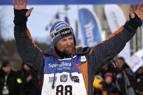 Harald Tunheim i mål som nummer 2 i Finnmarksløpet 2012