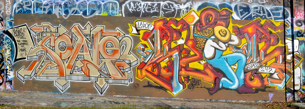 SCALE, BLER, Graffiti, the yard, Oakland,