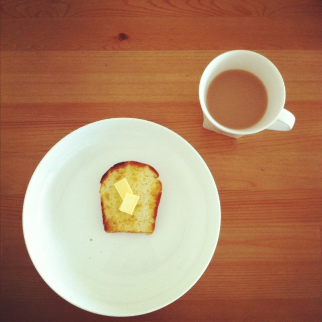 home made brioche toast and earl grey tea