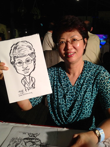 caricature live sketching for CSC Partners' Appreciation Event