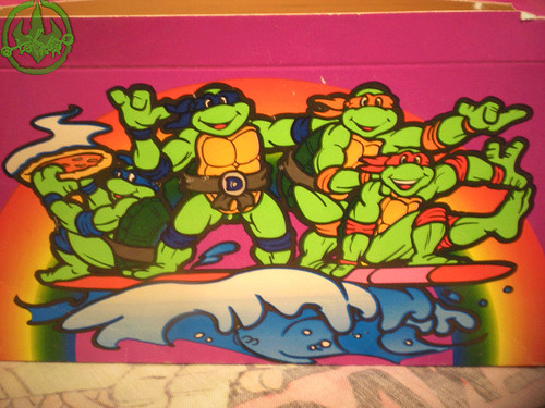 "MELLO SMELLO :: ""TEENAGE MUTANT NINJA TURTLES"" Valentine Kit .. box v (( 1994 ))"