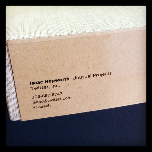 new business cards have arrived