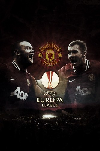 Manchester United iPhone Wallpaper UEFA Europa League ver.