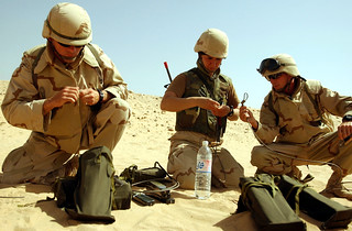 UCT-2 prepare for an explosives training exercise