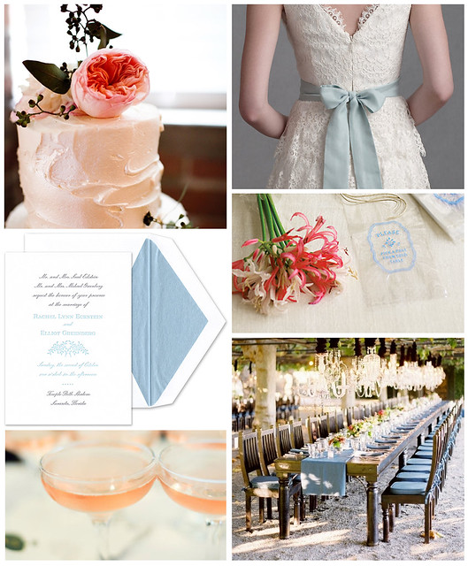 Blush and Blue Garden Wedding
