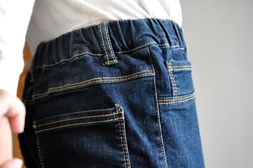 セシール のびーるストレートジーンズ