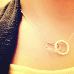 Interlocking circles, my new Tiffany necklace ❤