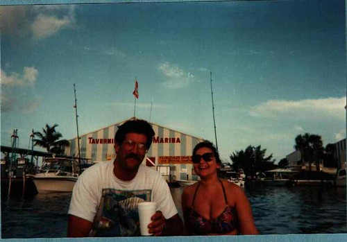 Alyse & Andy boating in the Florida Keys by aavins