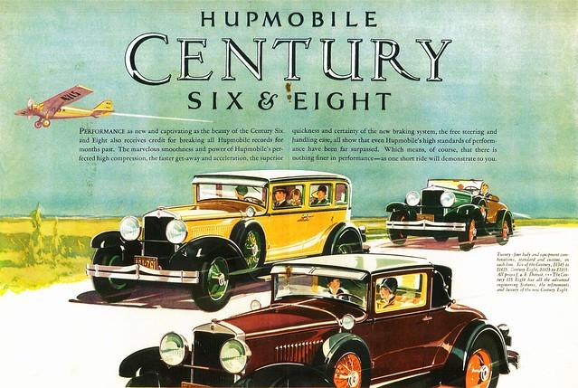 1928 Hupmobile Century Sedan, Coupe & Roadster