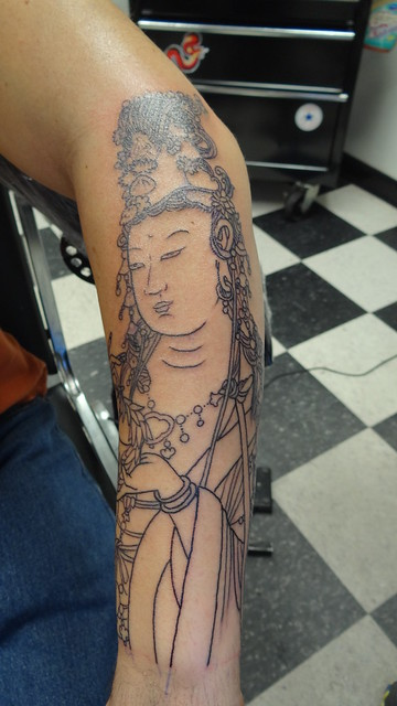 kuan yin tattoo outline flickr photo sharing