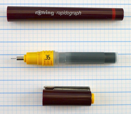 Rotring Rapidograph 0.35 mm Opened