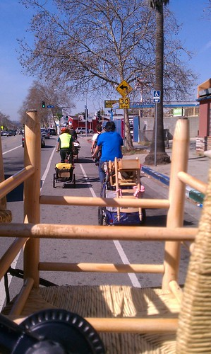 Bike move en Route from Highland Park to Echo Park on York Blvd bike lane